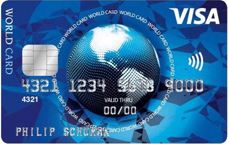 weltweit bezahlen mit der visa kreditkarte visa world card. Black Bedroom Furniture Sets. Home Design Ideas